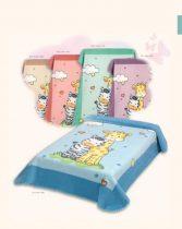 Belpla Baby perla ster pléd (637) 80*110 pink -tasakos
