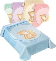 Belpla Baby perla gold pléd (549) 80*110 pink -tasakos