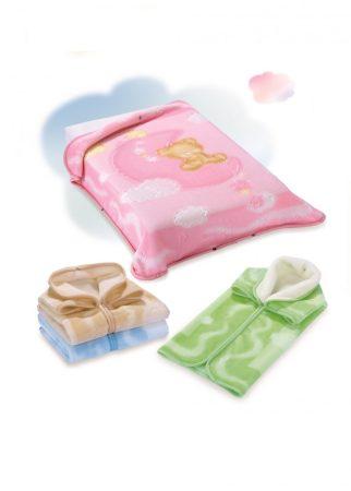 Belpla Pléd Baby Perla Gold zsákká alakítható  (536) 80*90 Pink