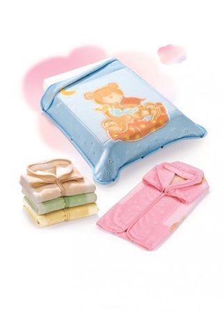 Belpla Pléd Baby Perla Gold zsákká alakítható  (537) 80*90 Pink