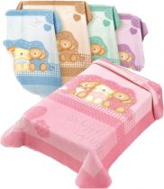 Belpla Baby perla gold pléd (543) 110*140 pink -tasakos