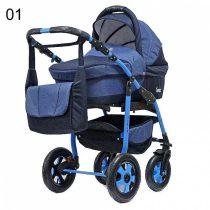 Teddy Fenix 3in1 babakocsi 01 farmer kék