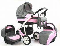 Teddy Diadema 3in1 babakocsi pink-grey