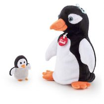Trudi plüss báb 25 cm - Pinguin with baby