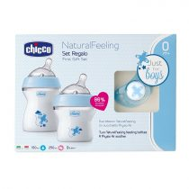 Chicco Natural Feeling ajándékszett Kék 0m+ Ch08071162