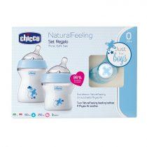 Chicco Natural Feeling ajándékszett Kék 0m+ Ch08071166