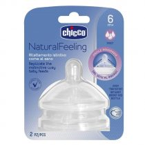 Chicco Natural Feeling Gyors Folyású Szilikon etetőcumi 6m+ 2 db Ch0810472