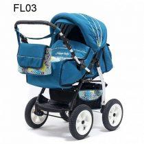 Teddy Diana PCO kétfunkciós babakocsi FL03 blue