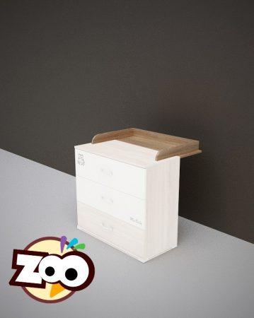 Todi Zoo pelenkázó toldalék 3 fiókos komódhoz 80x70 cm