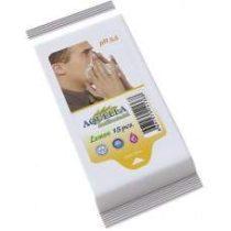 Aquella Antibakteriális nedves törlőkendő 15 db Lemon