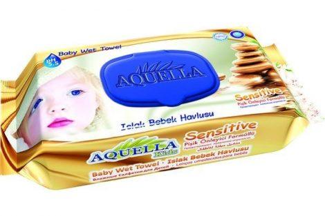 Aquella Kids Baby nedves törlőkendő 60 db Sensitive