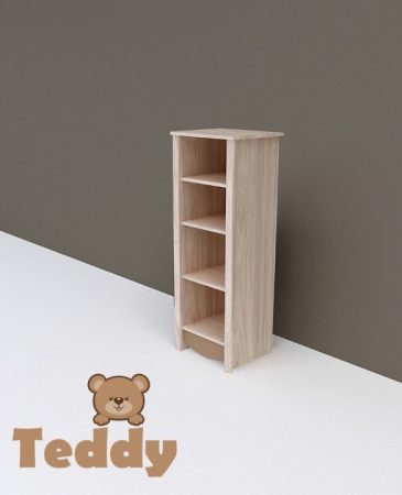 Todi Teddy keskeny nyitott polcos szekrény (140 cm magas)