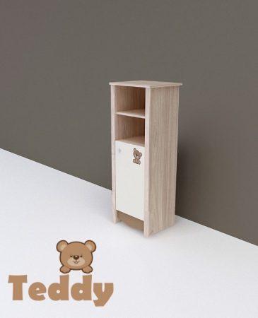 Todi Teddy keskeny nyitott polcos + 1 ajtós szekrény (140 cm magas)