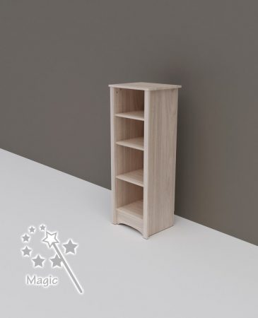 Todi Magic keskeny nyitott polcos szekrény (140 cm magas)