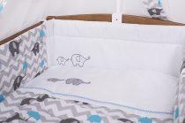 Szeko Tündér 3 Részes ágyneműgarnitúra esernyős Elefánt - Kék