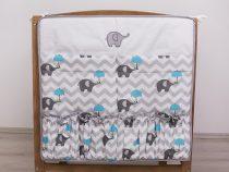 Szeko Hímzett zsebes tárolók esernyős Elefánt - Kék