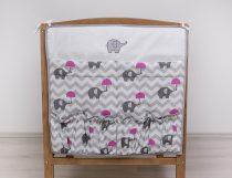 Szeko Hímzett zsebes tárolók esernyős Elefánt - Rózsaszín