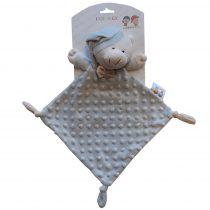 Gamberritos szundikendő plüss buborékos anyagú hálósapkás maci szürke 9353