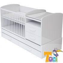 Todi Bianco kombi babaágy 70x120 cm  polcbetét nélkül