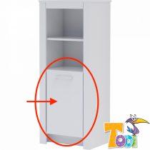 Todi White Bunny - ajtó keskeny nyitott +1 ajtós szekrényhez (140 cm magas)