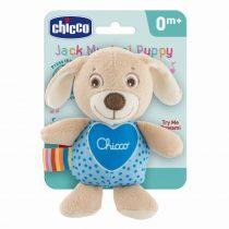 Chicco Jack kutyus zenélő plüss - Kék