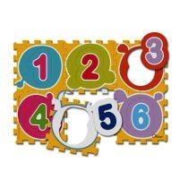 Chicco Számok Puzzle - mosható szőnyeg 6 db-os