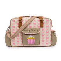 Pink Lining Yummy Mummy pelenkázótáska pink butterflies