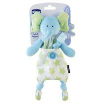 Chicco Pocket Friend 2 in 1 Elefántos Szundikendő és cumitartó Zöld CH0080132