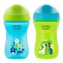 Chicco Easy Cup inni tanító itatópohár 12m+ 2 in 1 szelep 266 ml Kék CH00696120