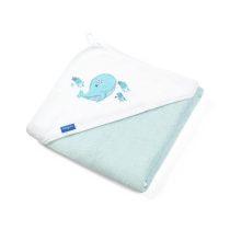 BabyOno fürdőlepedő 76x76 cm bambusz 345/02 kék , jegesmedve