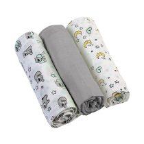 BabyOno textilpelenka színes 3db 348/01 szürke