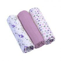 BabyOno textilpelenka színes 3db 348/04 lila