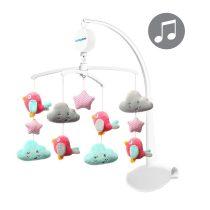 BabyOno plüss zenélő-forgó  felhők és madarak 626