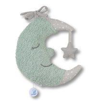 Sterntaler musical toy moon - felhúzható zenélő plüss kék hold 21 cm