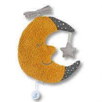 Sterntaler musical toy moon - felhúzható zenélő plüss sárga hold 21 cm