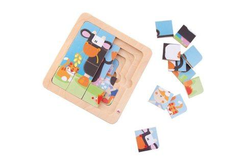 Sevi 4 In 1 Fa Puzzle Tehenes 82719