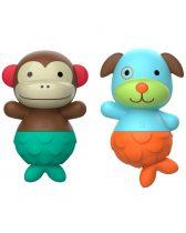 Skip Hop Zoo fürdőszobai játék - majom és kutya sellő